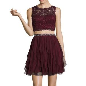 My Michelle Two-Piece Sleeveless Prom/Party Dress